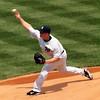 Brian Gordon's first pitch as a Yankee