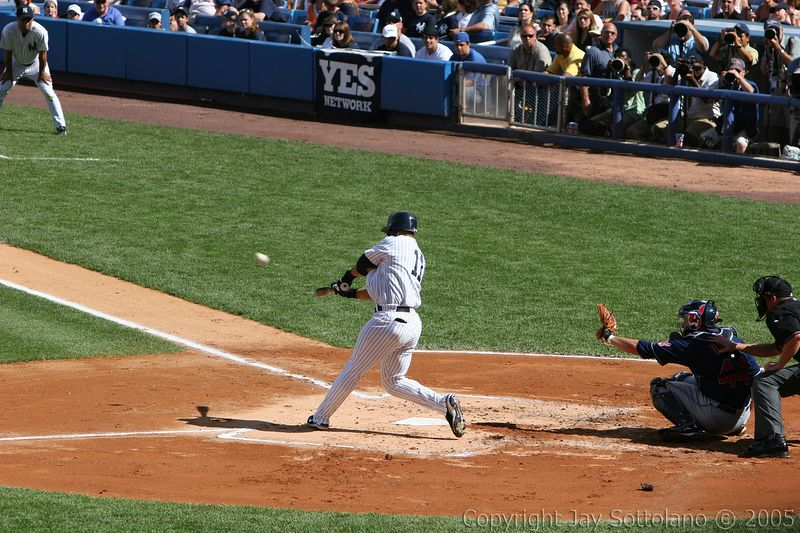 Gary Sheffield (Home Run Swing and ball leaving the bat)
