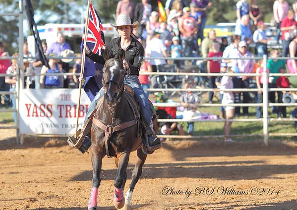 Elle Hamilton displays the Aus flag