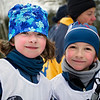Immediately after the race, Stella & Lili<br /> Parc de la Mauricie, Jan 8, 2011