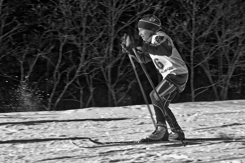 Parc de la Mauricie 2km Skate, finish, Lili Silver medal <br /> April 2, 2011
