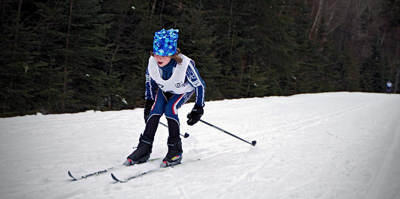 Arrivée, Classique ski race, gold<br /> Parc de la Mauricie, January 8, 2011