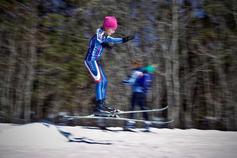 Stella, ski practice @ Parc de la Mauricie<br /> March 13, 2010