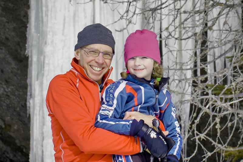 Gary & Stella<br /> Pimbina ice falls, Parc de la Mauricie<br /> February 21, 2010