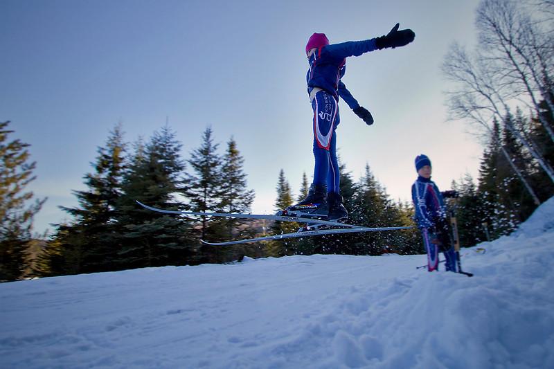 Stella, ski flying at Pimbina<br /> March 6, 2010