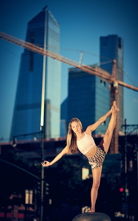 Sept.11,  2019 - New York, NY   Yoga With Brittney photoshoot West Side NYC  Outfit- Wolven Threads  Photographer- Robert Altman Post-production- Robert Altman