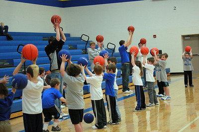 Junior Cubs perform at half-time, 2/13/10