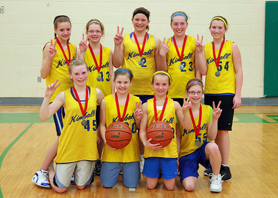 Kimball 6th-grade girls' basketball, 2/12-14/10
