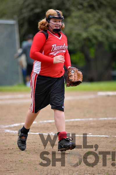 When Samantha has done very well at bat... her return to the infield has a decidedly jovial quality