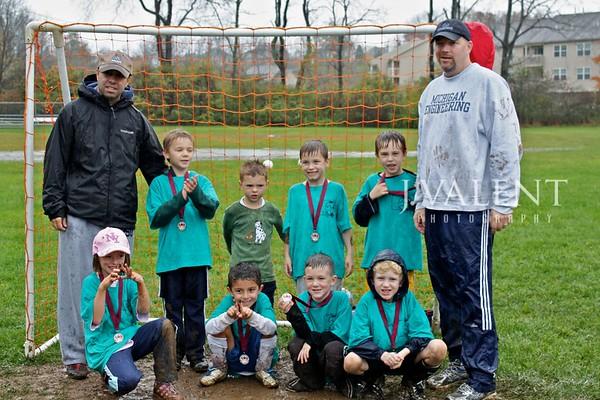 U-7 Soccer, Blue Sharks - Fall 2009
