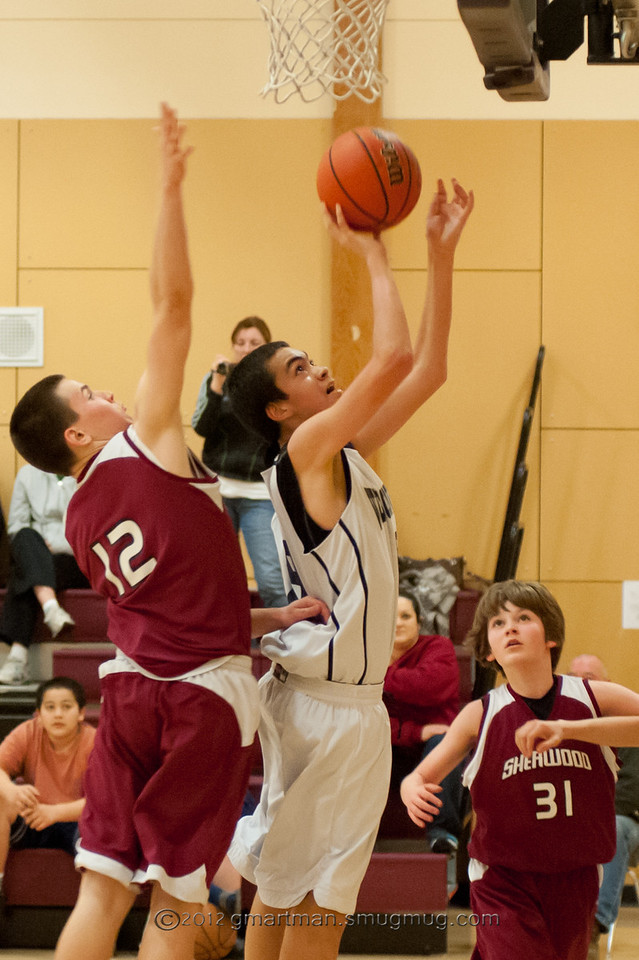 2012 8th Grade Boys Basketball vs. Sherwood