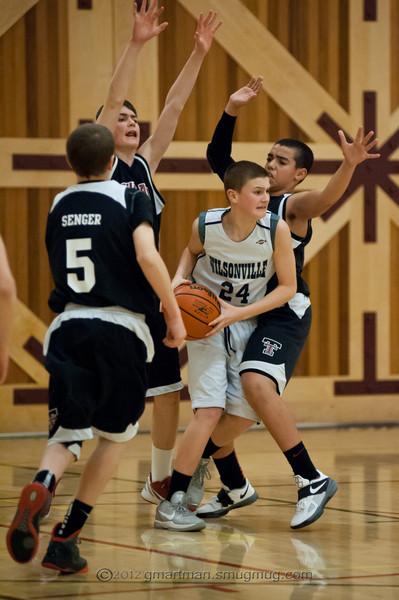 2012 8th Grade Boys Basketball vs. Tualatin