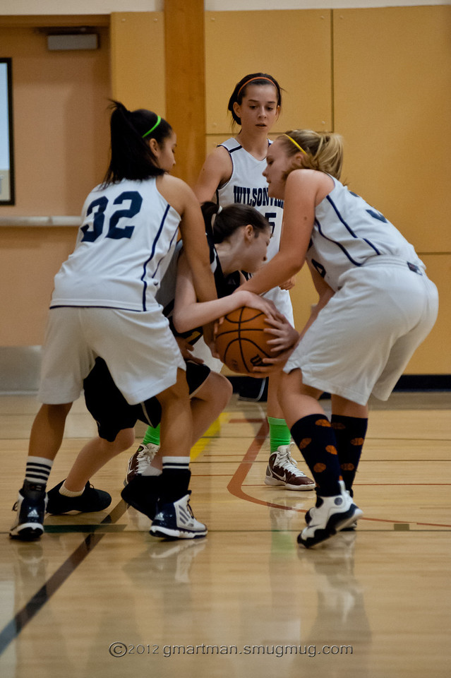 2012 Girls 8th Grade Basketball Team vs. Tualatin