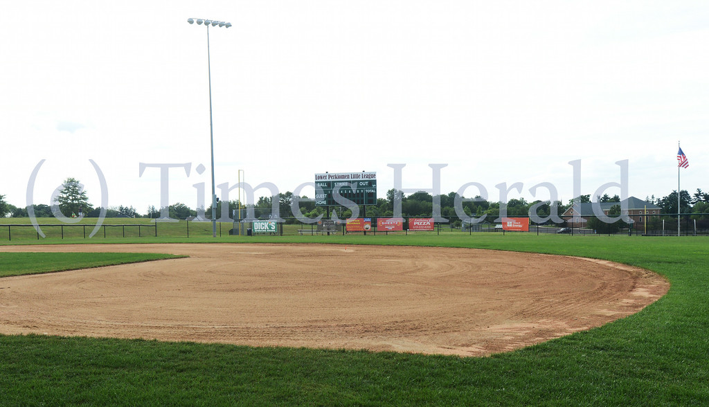 . Lower Perkiomen Little League readies their fields and their volunteers for the upcoming State Championship.  Wednesday, July 16, 2014.  Photo by Adrianna Hoff/Times Herald Staff.