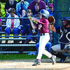 Joe LeBlanc grabs a single for North Leominster in the Leominster Major League City Championship game against Leominster American on Friday evening. SENTINEL & ENTERPRISE / Ashley Green