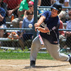 Leominster American's Will Vargo hits a double. SENTINEL & ENTERPRISE / GARY FOURNIER