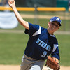 Leominster National's Bryce Richard fires in a pitch. SENTINEL & ENTERPRISE / GARY FOURNIER