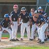 Leominster LL All-Stars wait at home to greet  Nick Garcia who belted a 3 run homer to put his team ahead 7-5 against Holden LL in a playoff game in Paxton. Holden rallied in the bottom of the 6th to beat Leominster 8-7. SENTINEL&ENTERPRISE/ Jim Marabello