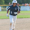 Leominster LL All-Star Nick Garcia trots around the bases after blasting a 3 run homer to put his team ahead 7-5 against Holden LL in a playoff game in Paxton. Holden rallied in the bottom of the 6th to beat Leominster 8-7. SENTINEL&ENTERPRISE/ Jim Marabello