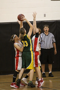 Greenfield Jr High Girls 8th Grade Basketball vs South Valley Jr High.