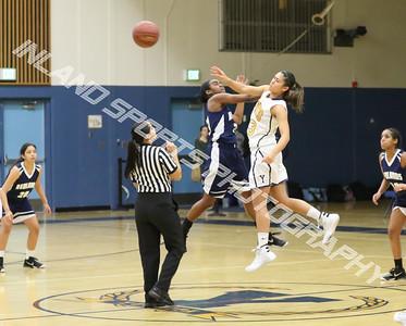 Yucaipa vs Redlands girls basketball 2016