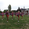 Burlington High School cheerleaders warm up near the Fox25 Zip Trip festival in Burlington. -- photo by Mary Leach