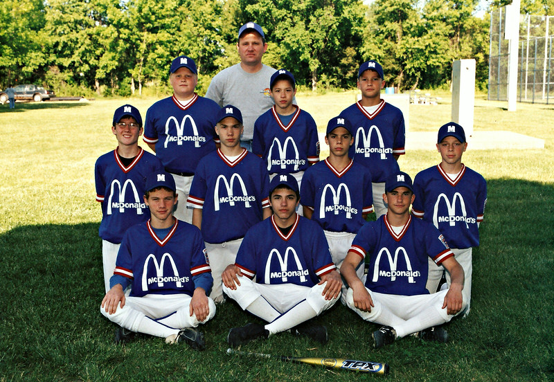 Cory and Alex with Mcdonalds in the major league ( 2002 )