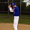 Cory in his little league uniform