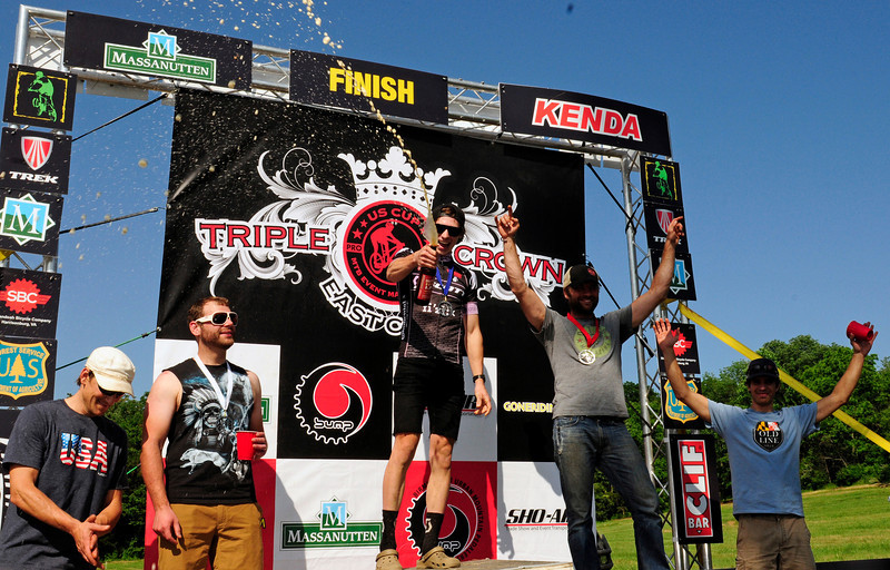 Men's Enduro podium
