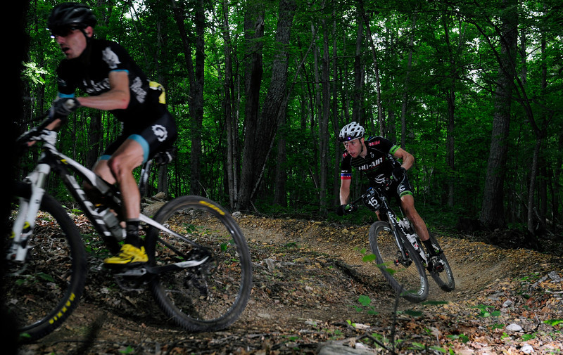 Nick Waite and Jeremiah Bishop battling it out for top honors in Men's Pro XC
