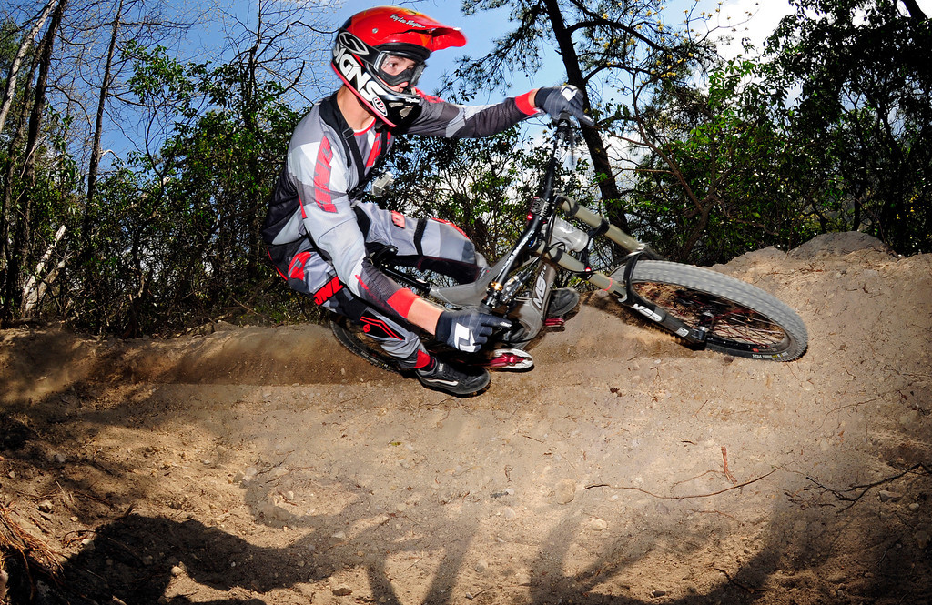 Sam Skidmore on new berm