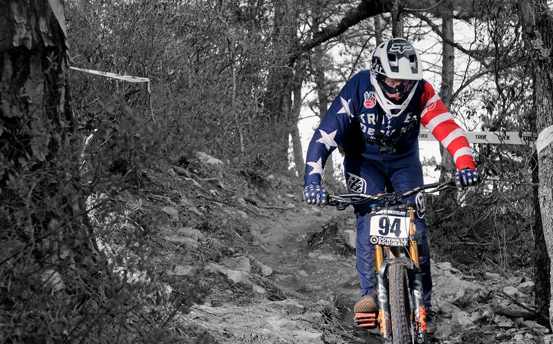 Eli Ladwig. Love the flag effect on his goggles.