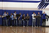 Pep band playing National Anthem
