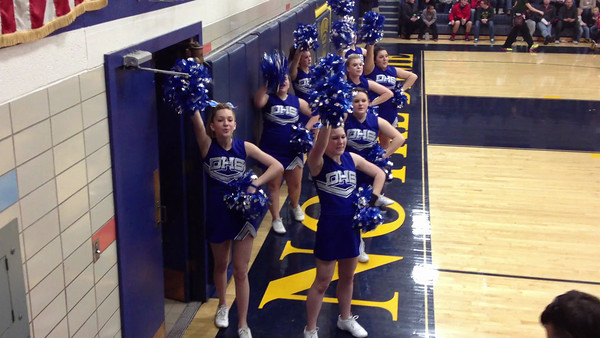Danville cheerleaders