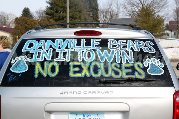 People writing Danville pride all over their vehicles.