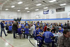 Danville fans eating supper before the pep rally.