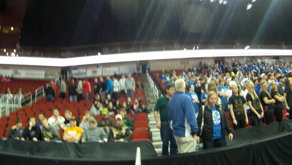 A scan of the crowd before the game.