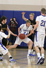 Danville's Mitch Martin (#44), Dylan Criswell (#21) and Central Lee's Kyler Hugg (#2) and Rick Galle (#30)