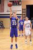 Danville's Josh Deggendorf (#20), Hunter Peebler (#45) and Holy Trinity's Dylan Menke (#10)