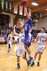 Danville's Kolton Jackson (#30) and Holy Trinity's Dylan Menke (#10), Colin Kassmeyer (#30) and Tanner Kelch (#34)