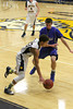 Danville's Dillon Sanchez (#5) and Notre Dame's Xavior Williams (#23)