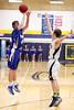 Danville's Hunter Peebler (#45) and Notre Dame's Matt Burford (#14)