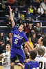 Danville's Dillon Sanchez (#5) and Notre Dame's Logan Hoschek (#30) and Jeff Giannettino (#12)