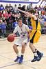 Danville's Dillon Sanchez (#5) and Notre Dame's Cody Moehn (#4)