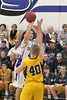 Danville's Connor Hoelzen (#42) and Notre Dame's David Earhart (#40)