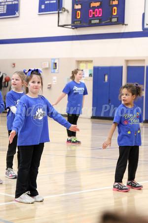 Danville Bitty Bears and cheerleaders