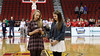 Danielle Haeffner and Landry Carr sing the National Anthem