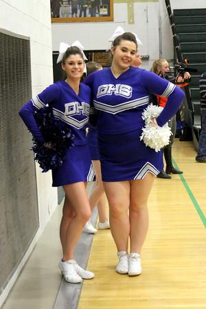 Danville cheerleaders: Jenna Williams and Katy Roby