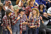 Danville's Grace Grothe, Emma Jarrett, Alexis Bauer, and McKenzie Speer show off their team spirit by dressing up in redneck attire.