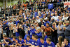"The ""sea of blue"" celebrates the Danville boys' win."